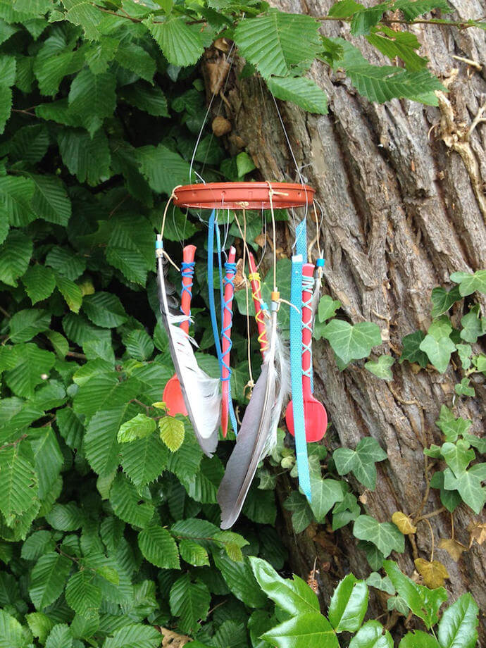 Whimsical Repurposed Eclectic Wind Chime DIY Project