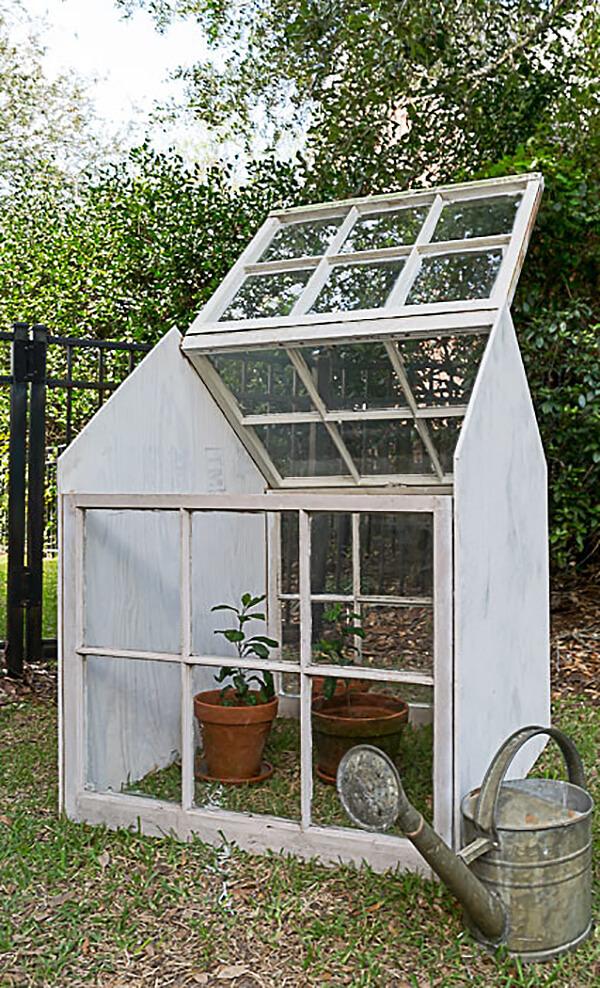 Reclaimed Window Miniature Personal Greenhouse