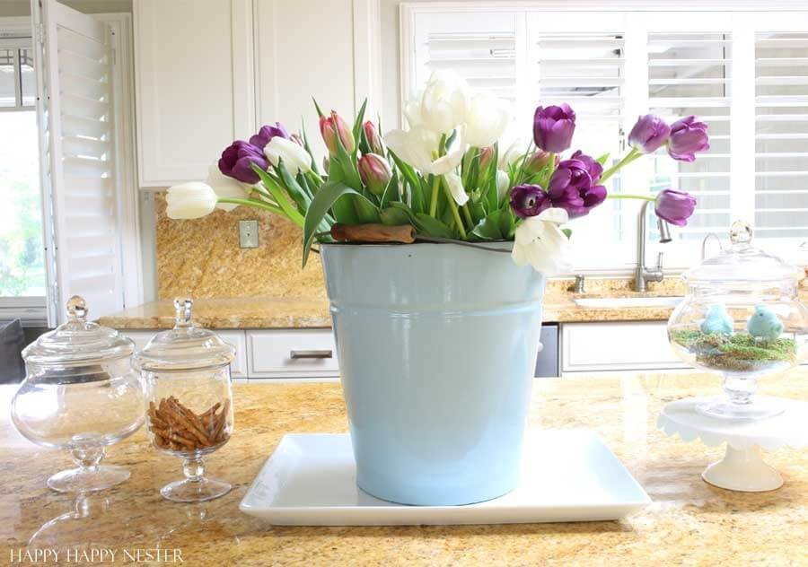 A Thrifty Bucket of Tulips to Brighten Any Room