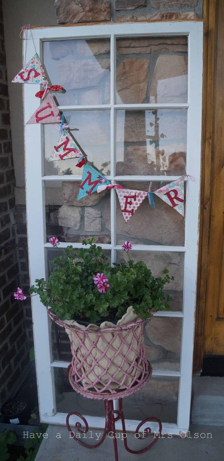 Wonderful Window Backdrop Porch Decor