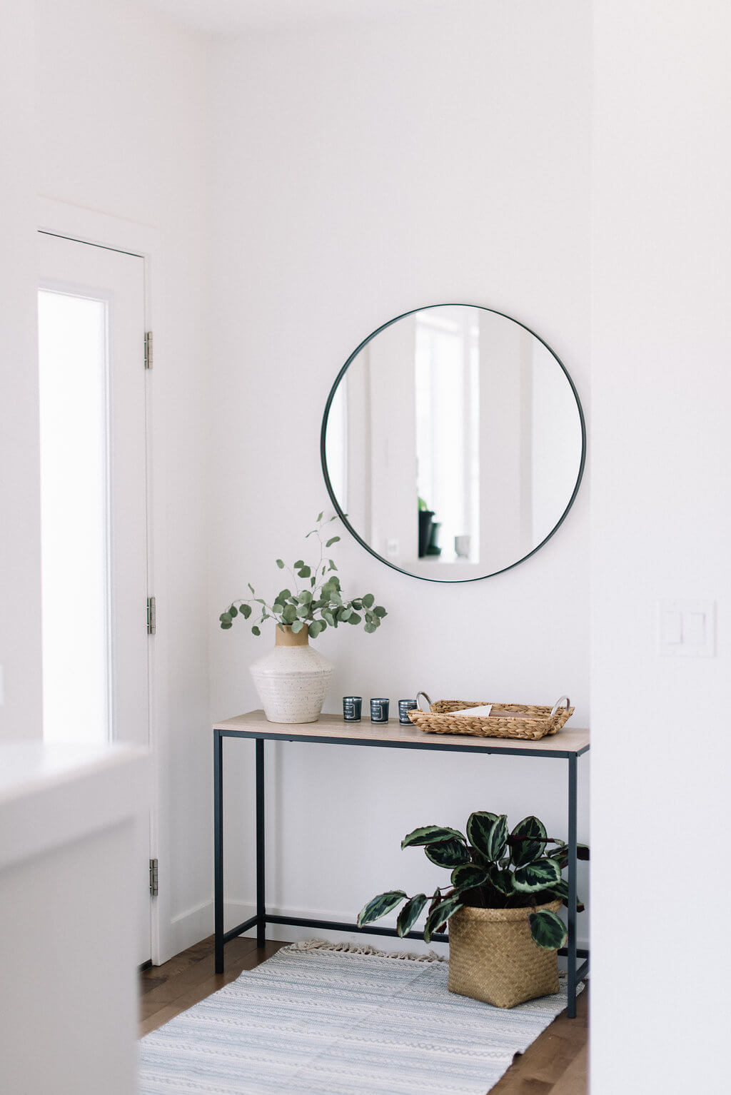 Sleek and Small Scaled Entry Table