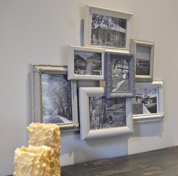 An Arrangement of Seven Layered Vintage Frames