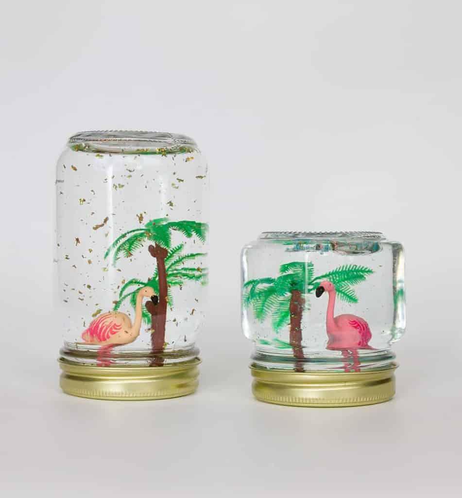 DIY Summertime Tropical Themed No-Snow Globe