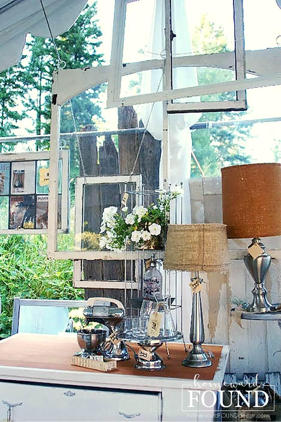 Various Hanging Window Backdrop Creation