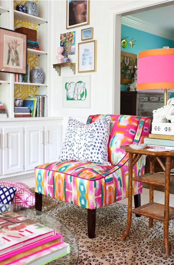 Bright and Cheerful Slipper Chair