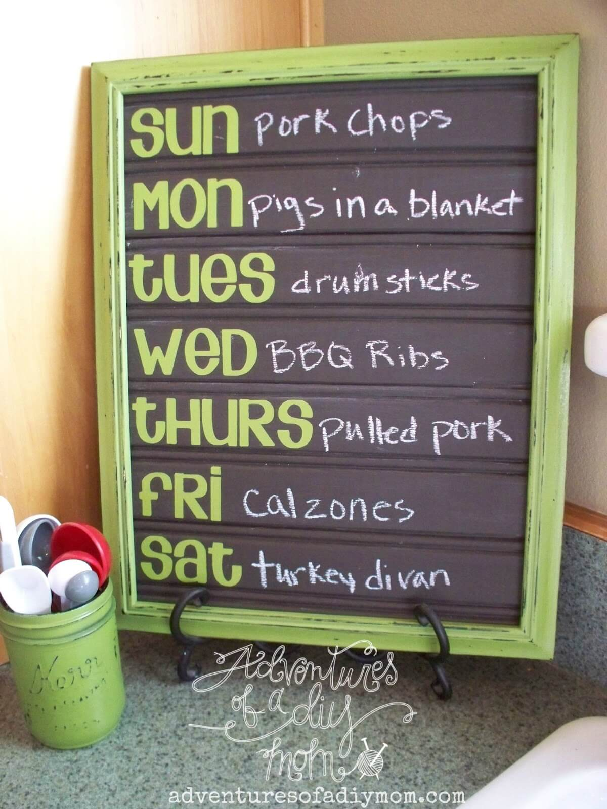 Your Weekly Menu Plan in a Frame