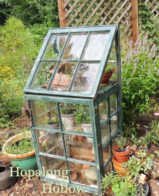 Reclaimed Window Miniature Decorative Greenhouse