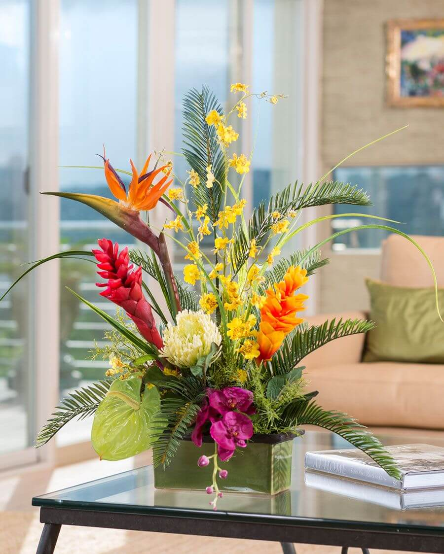 Tropical Orchids for a Statement Centerpiece