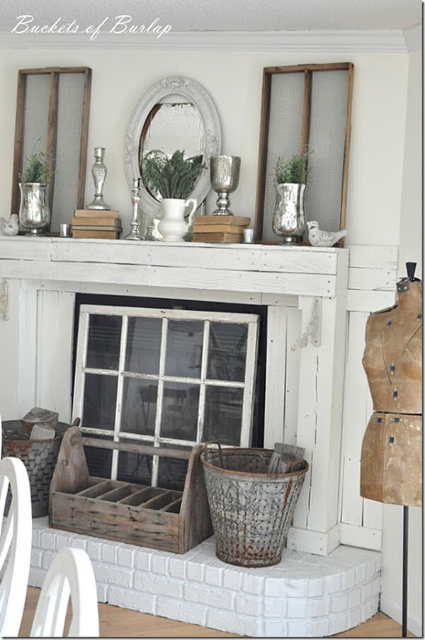 Window Frames, Pewter, and an Old Toolbox