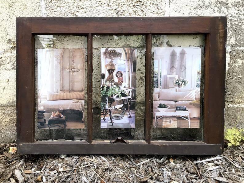 Picture Imposed Window Pane Decoration