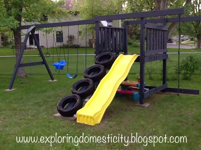 Tire Ramp for Your Jungle Gym