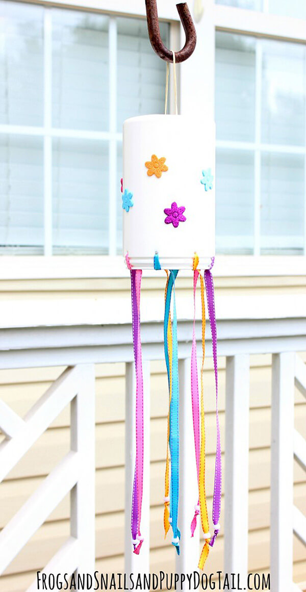Cute and Creative Ribbon and Flowered Windsock