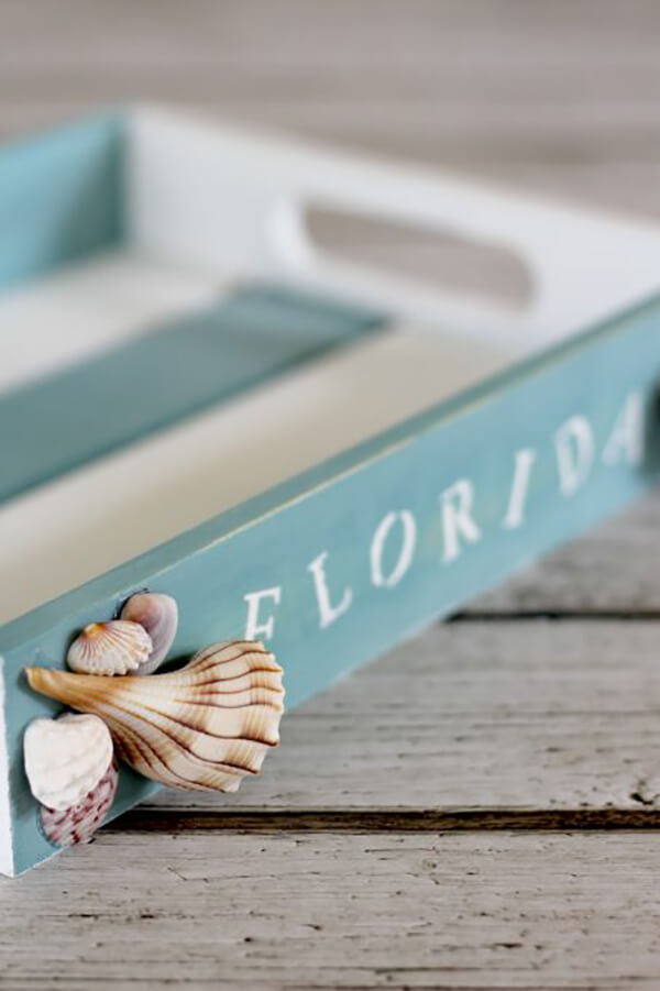 Beach Lover's Coastal Tray Home Decoration