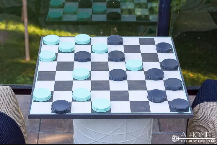 Relaxing Oversized Outdoor Checkerboard Game