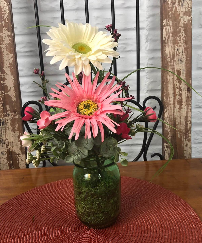 A Farmhouse Fresh Summer Floral Arrangement