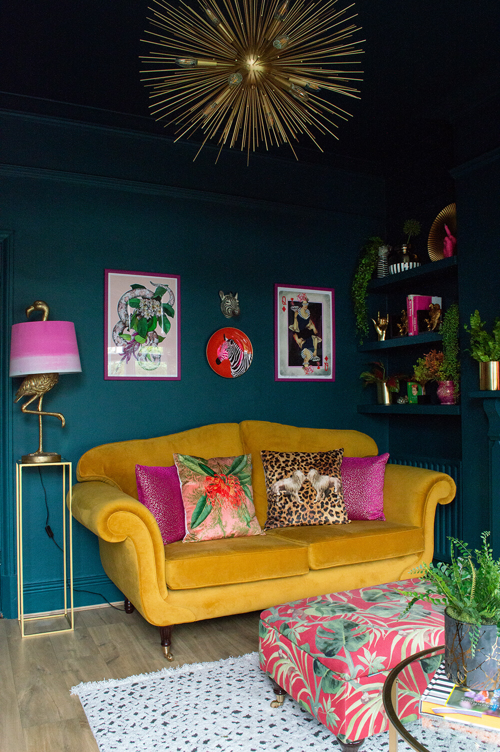 Eclectic Muted Colors Living Room Decor