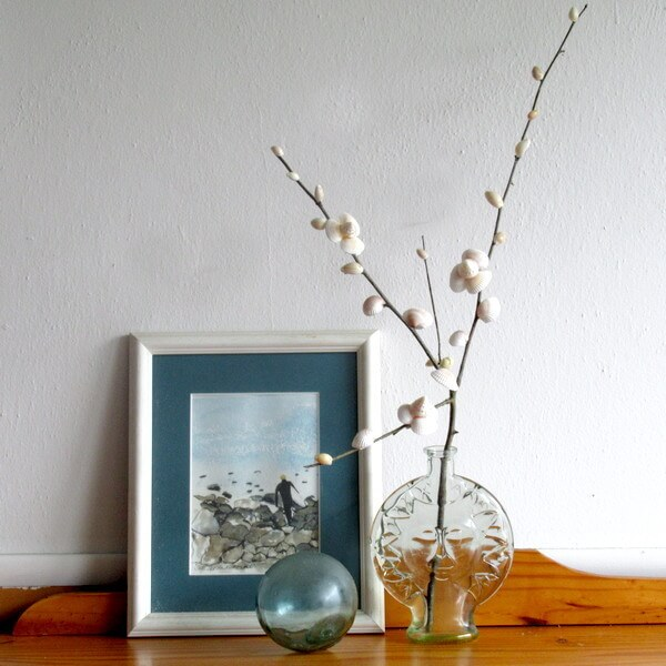 Budding and Blooming Beach Branch Decor