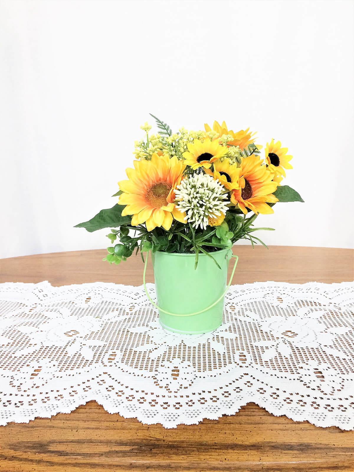 Silk Sunflower Centerpiece for Summer Décor