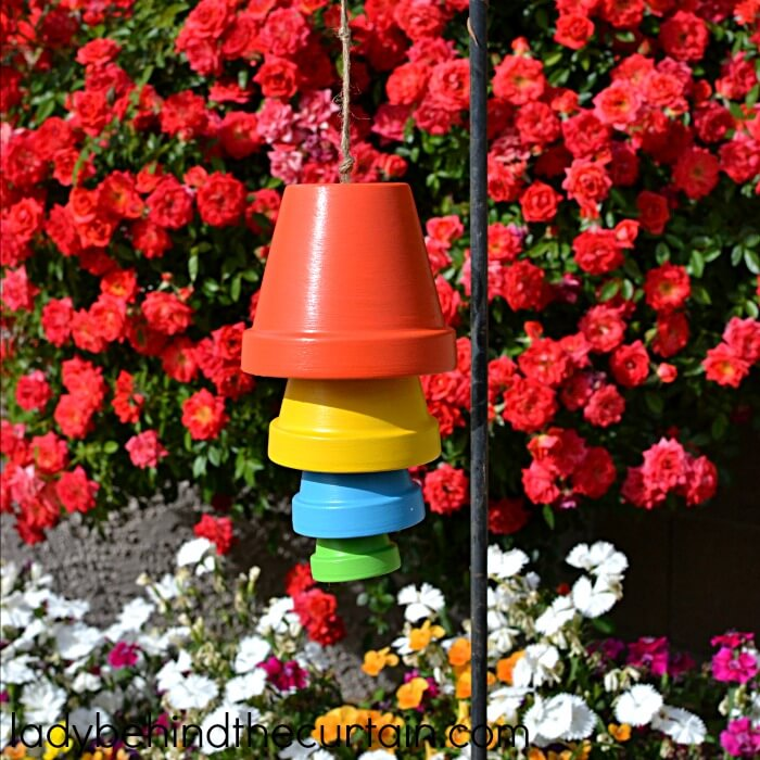 Upside Down Pots Turned Colorful and Unique Bell