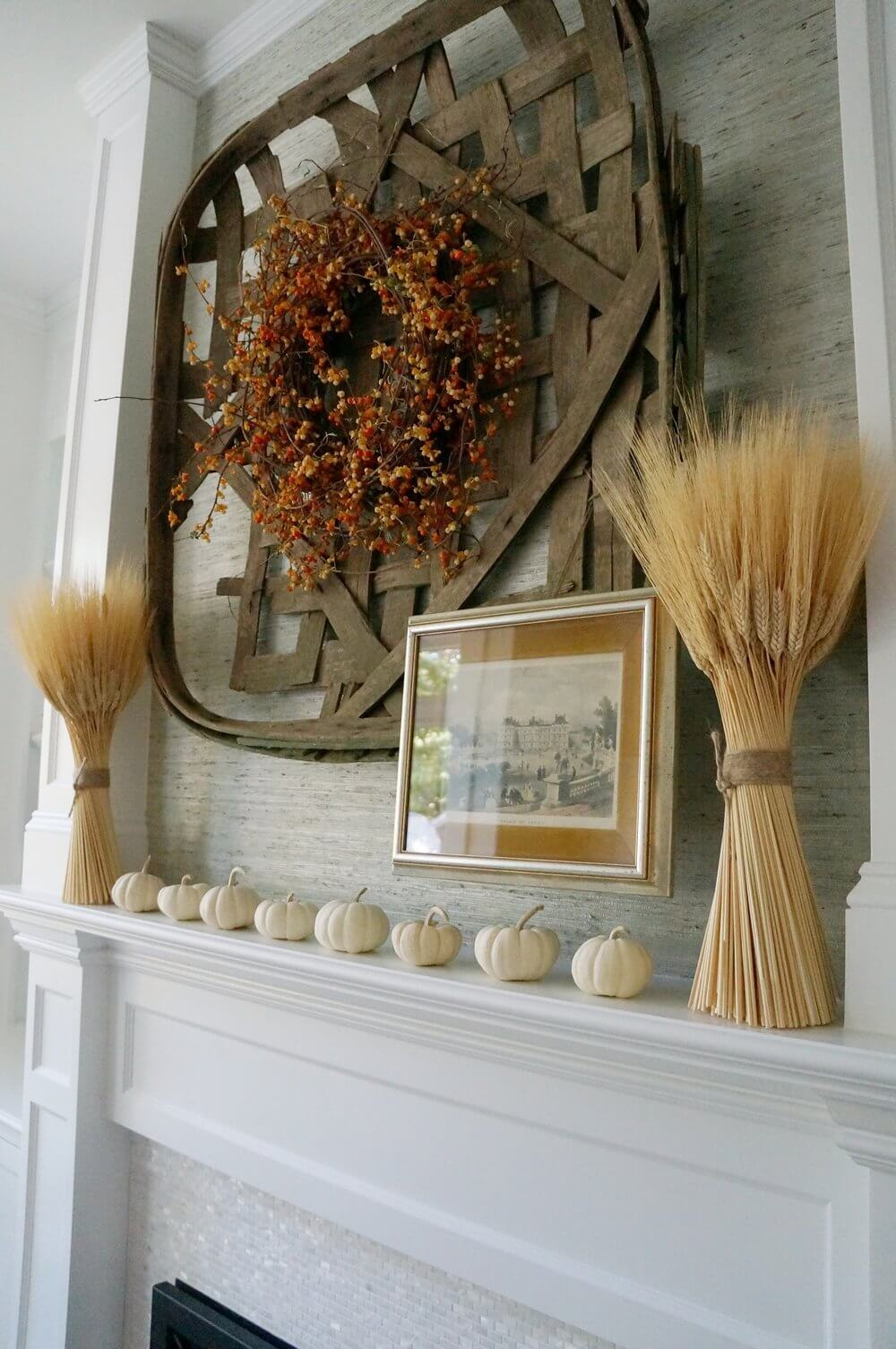 Wheat and an Old Winnowing Basket