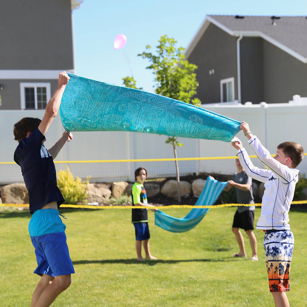 Funny Water Balloon Volleyball Game