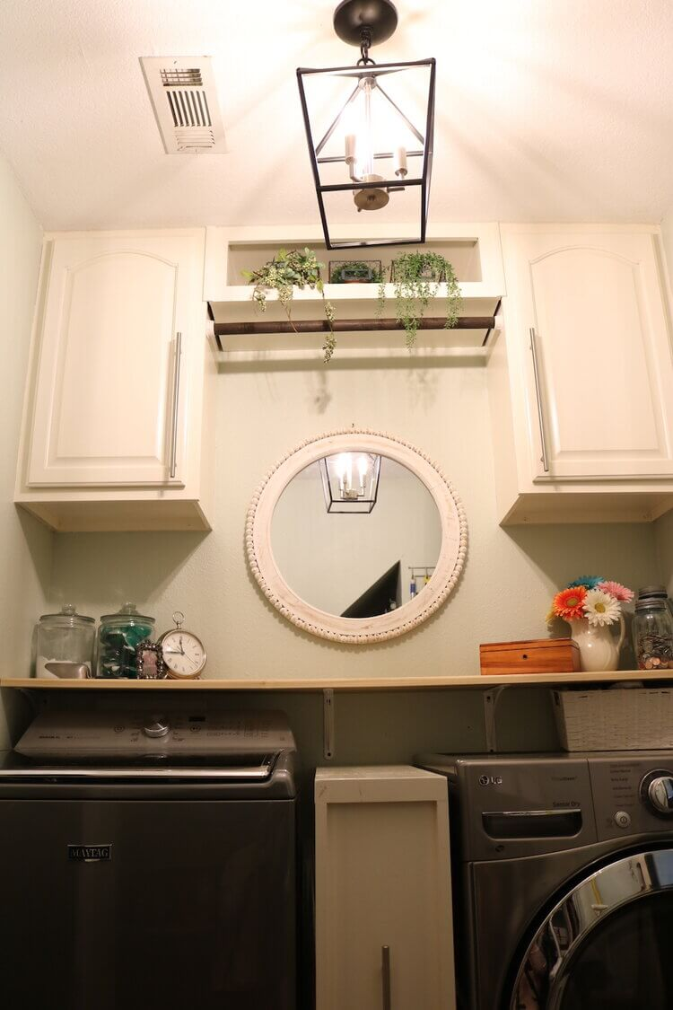 Vintage Industrial Laundry Room Makeover
