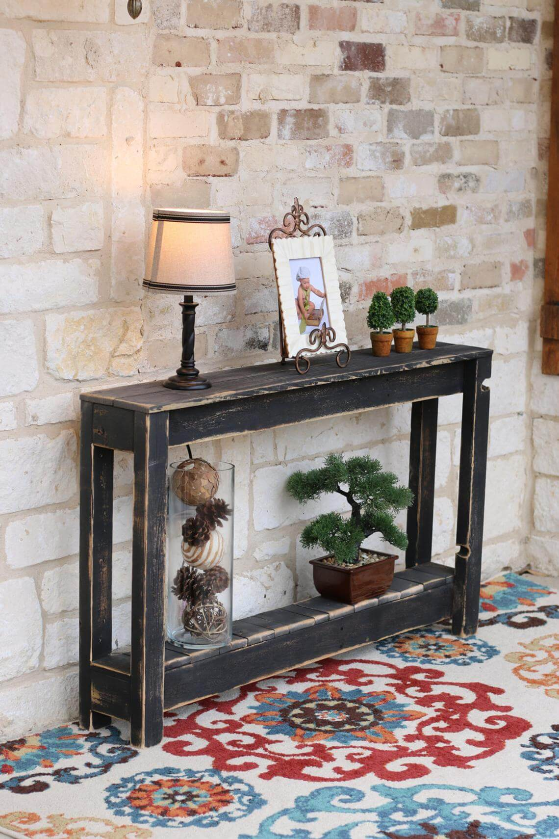 Rustic and Weathered Entry Console Table