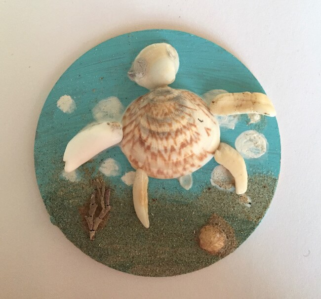 Sea Turtle Shell Art Home Decoration