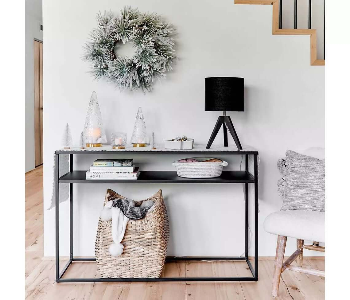 Space Saving All-Black Console Table