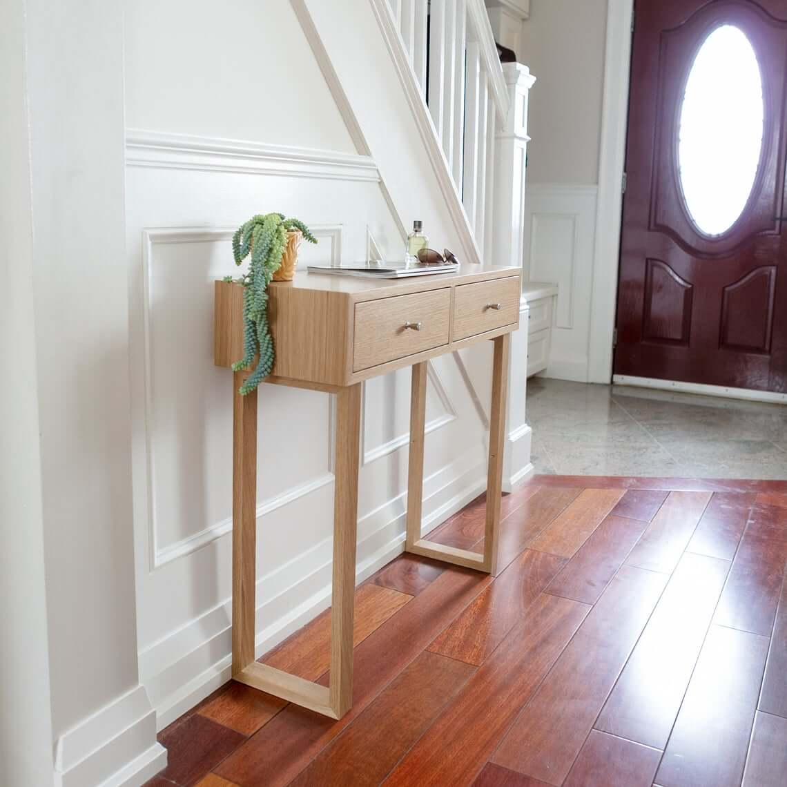 Two Drawer Tall Entry Table