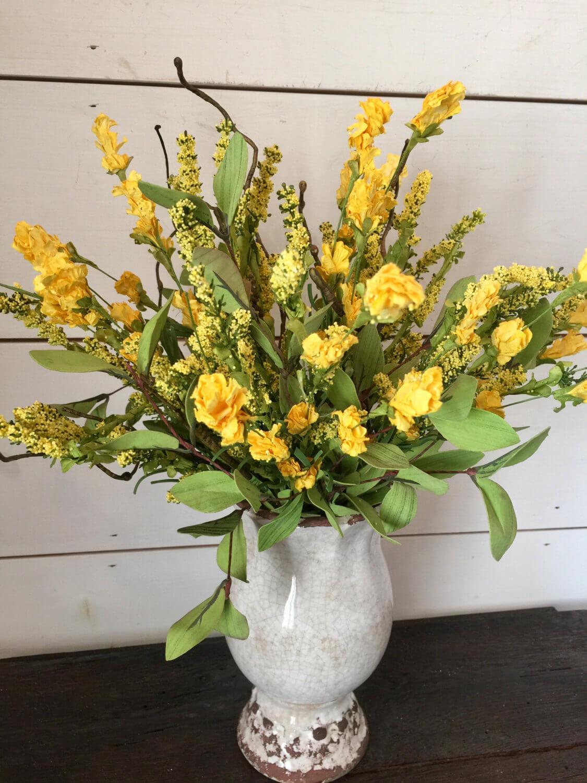 A Bright Yellow Summer Flower Arrangement