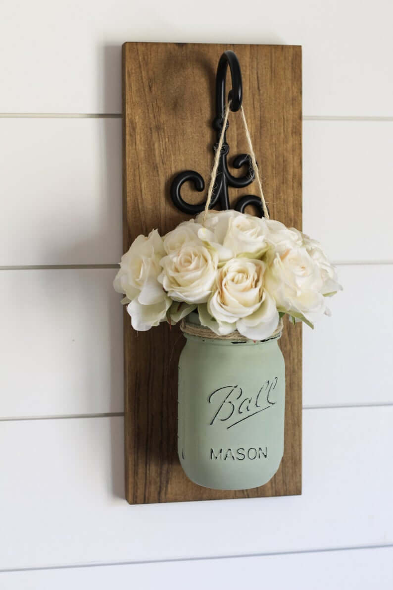 Black Scrolled Mason Jar Hanger