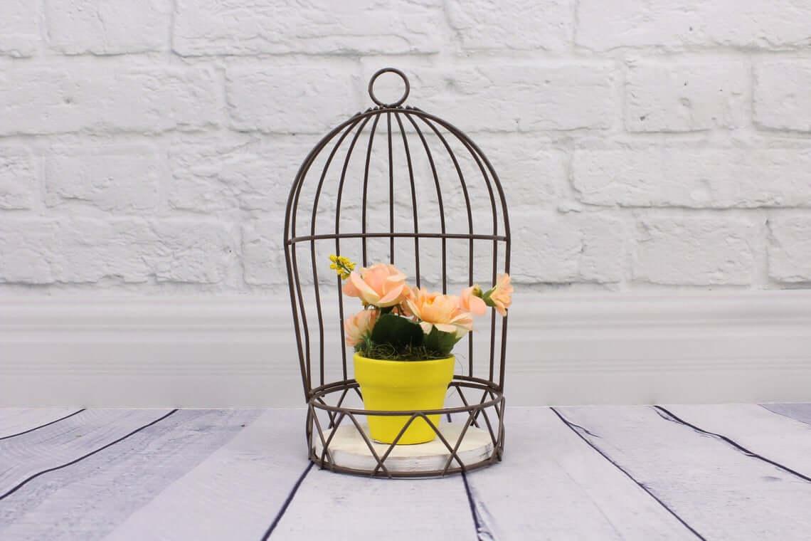 Simple Open Birdcage Outdoor Plant Holder