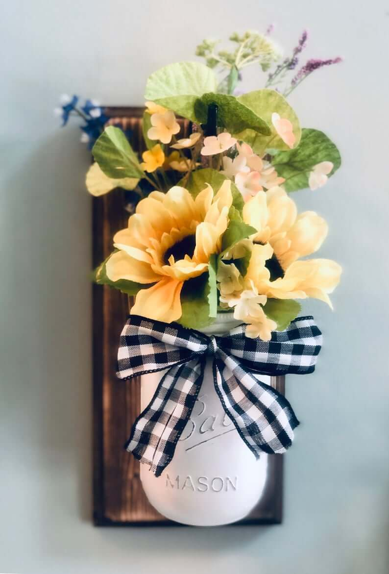 Tied with a Bow Jar Wall Vase