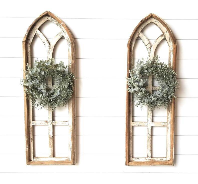 Shabby Chic Rustic Church Cathedral Window Panes