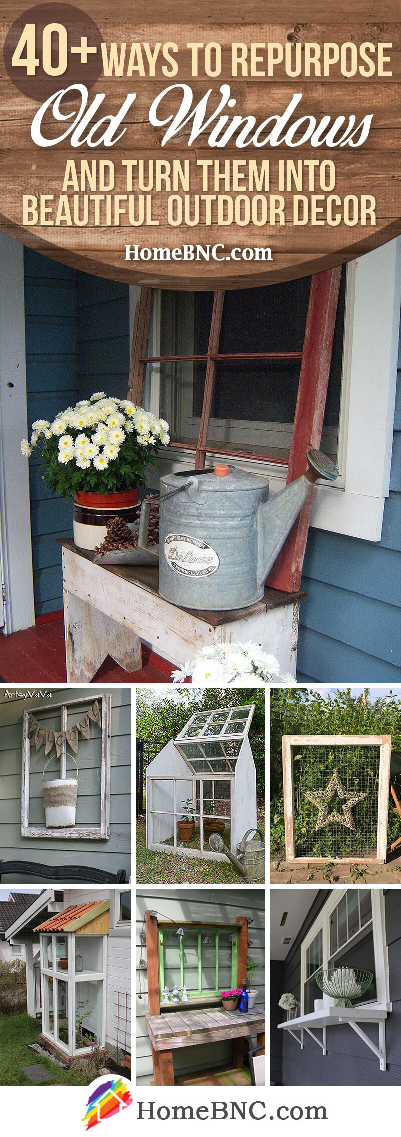 Old Window Outdoor Decor Ideas