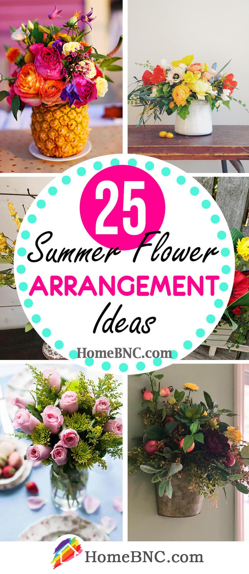 Summer Flower Arrangement Ideas