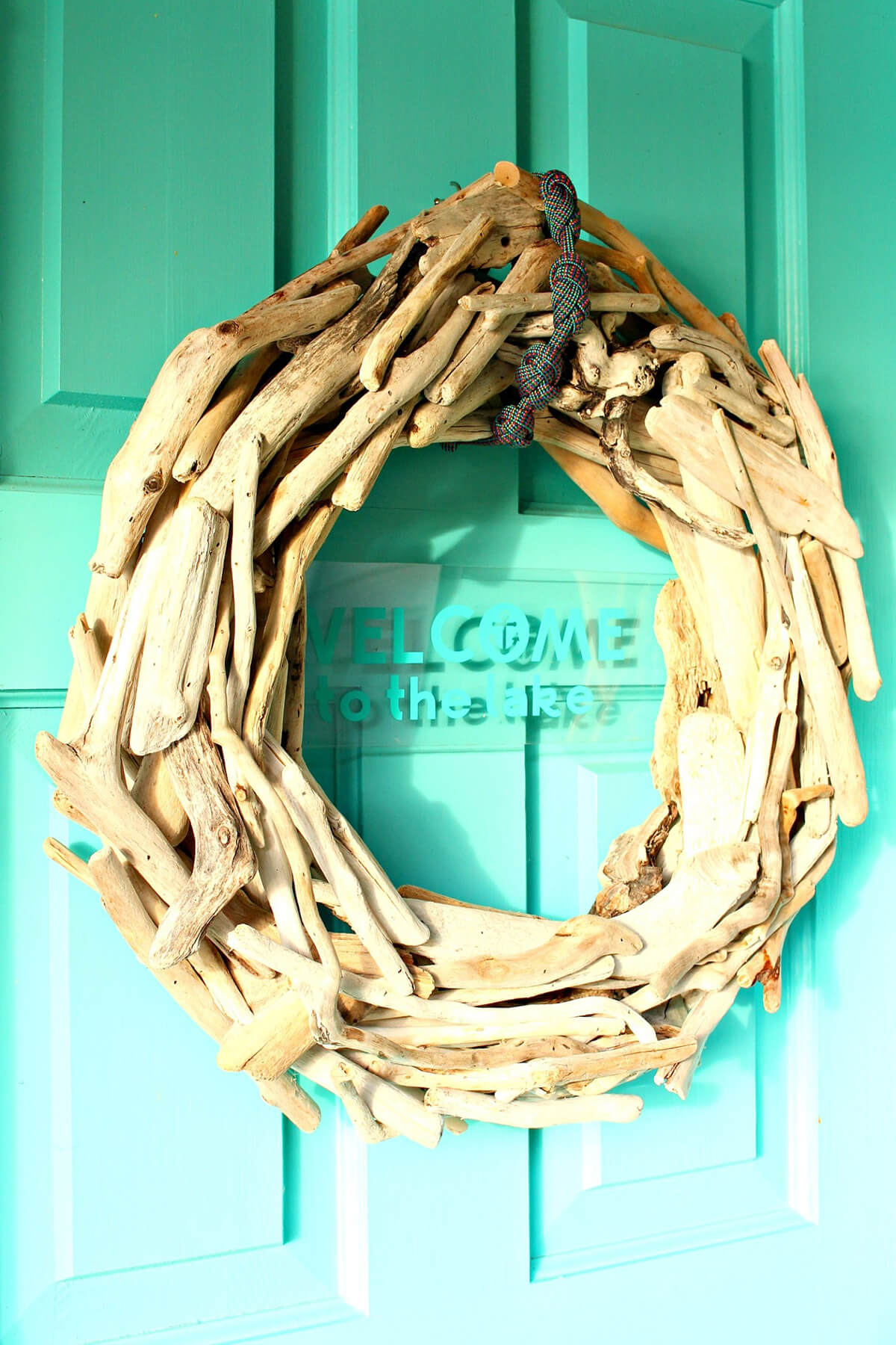 Rugged and Rustic Nautical Driftwood Wreath