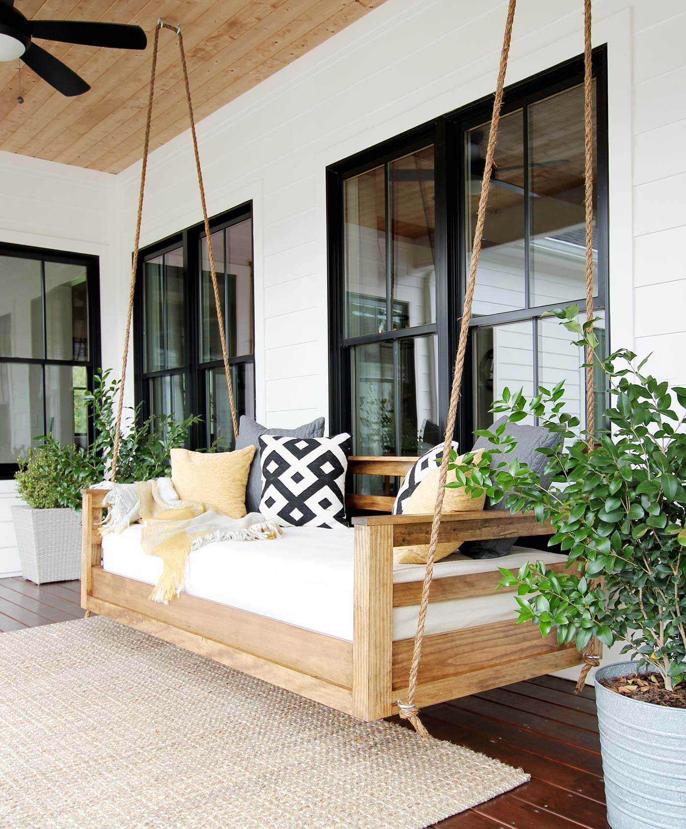 Romantic Bench Swing for Your Patio