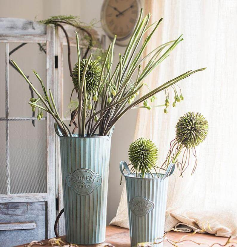 Rustic Farmhouse Style Cylinder Planter