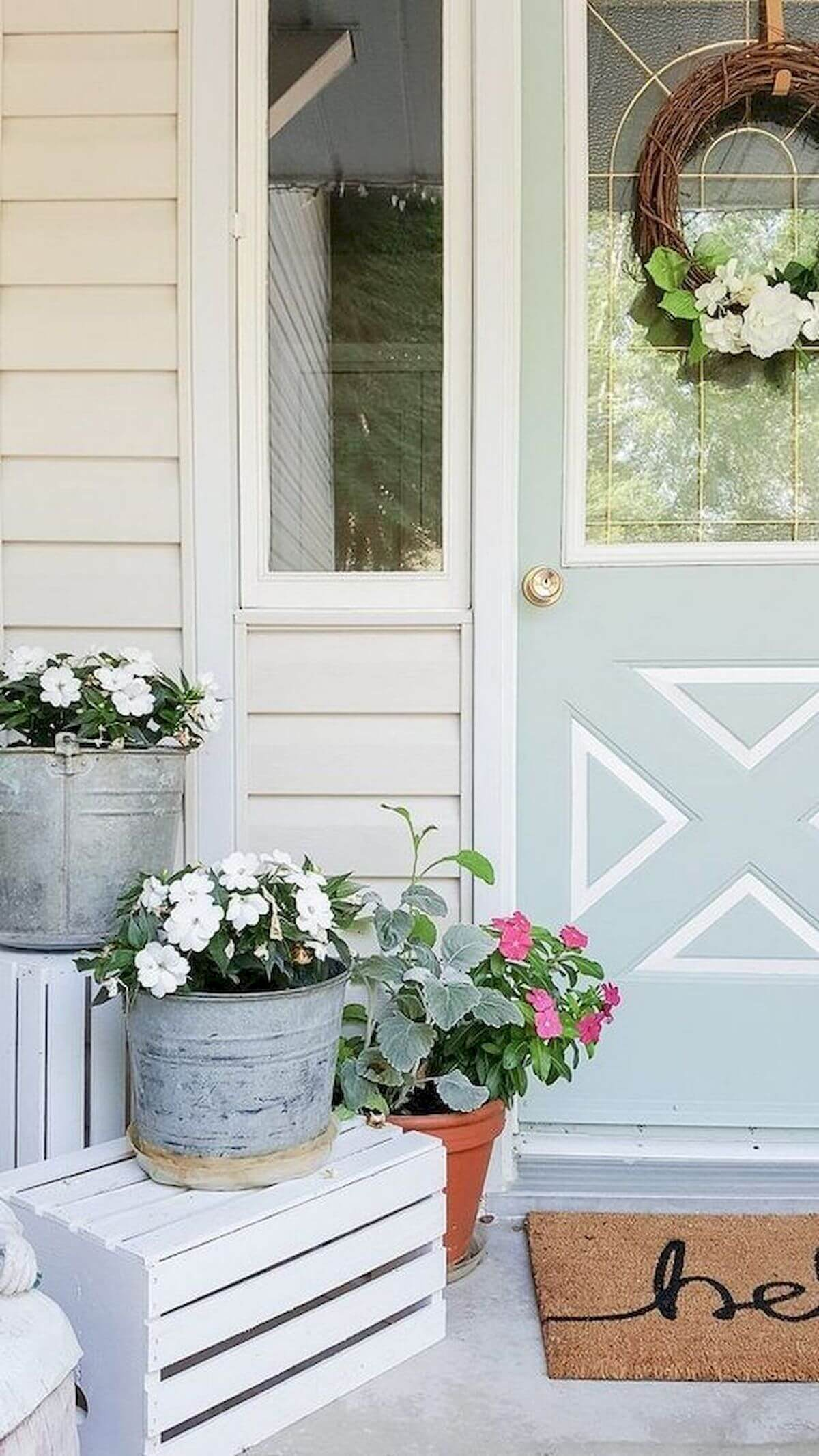 Cozy Up the Porch Corner with Crates and Planters