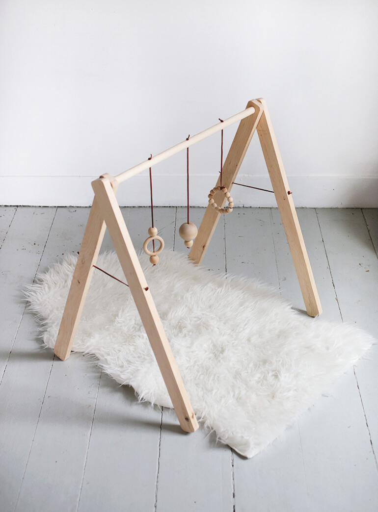 A Handcrafted Wooden Baby Gym