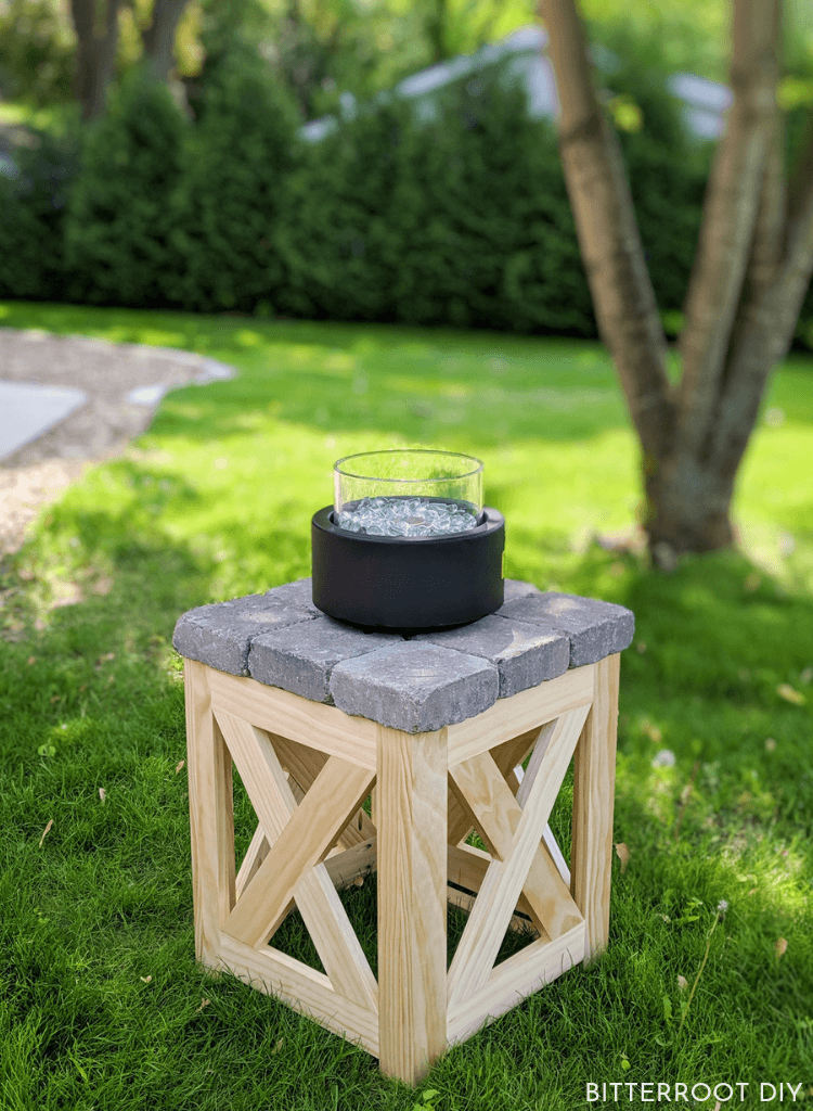 Repurposed Wooden Stool or Side Table
