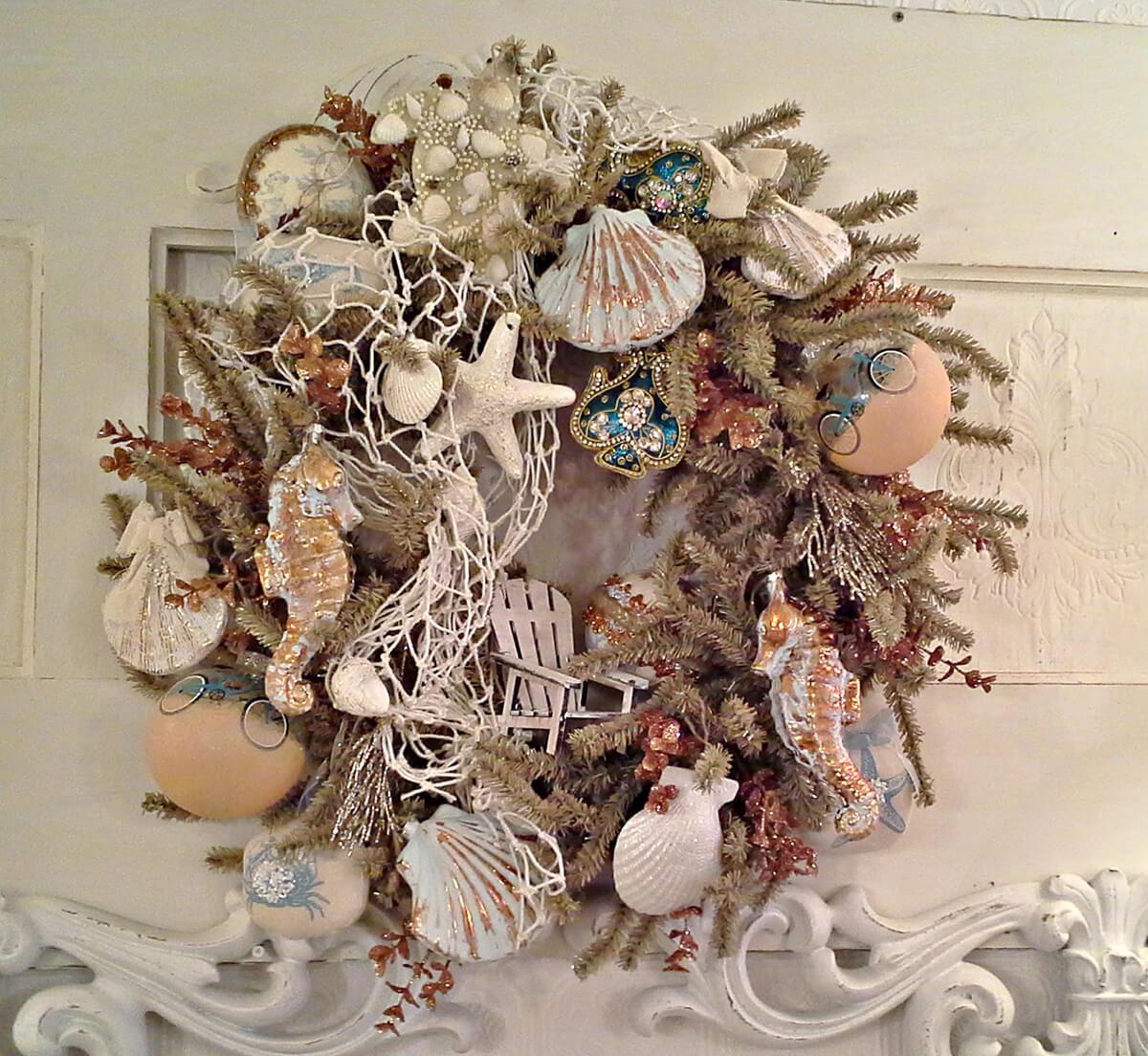 Smorgasboard of the Sea Nautical Christmas Wreath