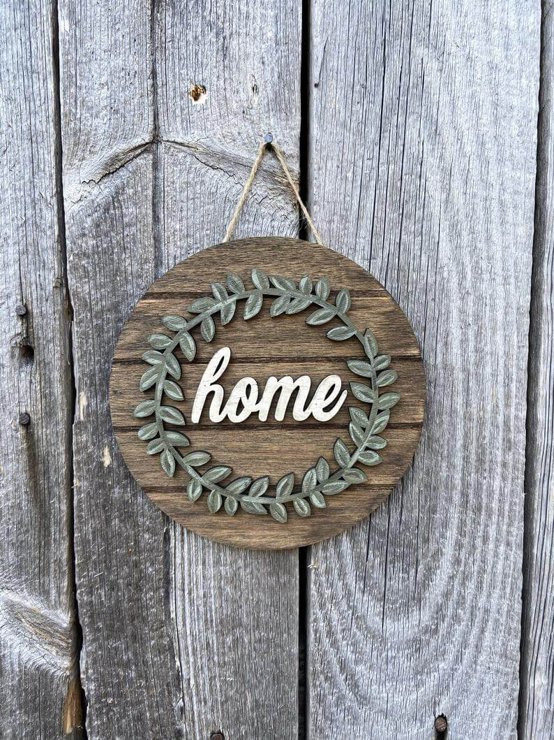 """Sweet """"Home"""" Hanging Farmhouse Sign"""