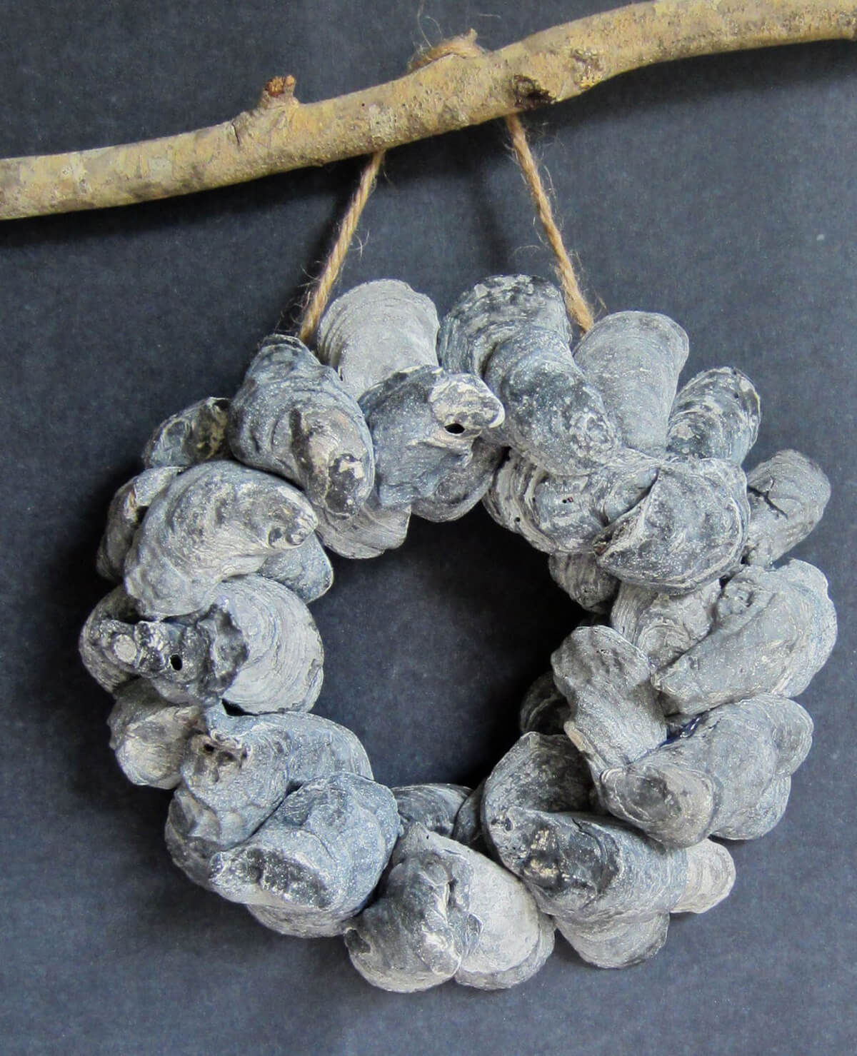 Nautical by Nature Oyster Shell Wreath