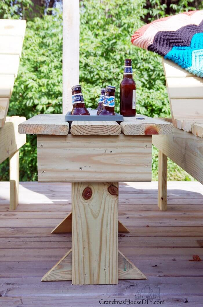 Creative Patio Table with Inbuilt Cooler
