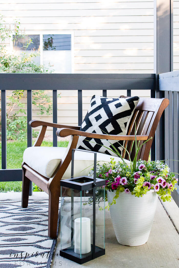 Industrial and Modern Black Lantern and Accent Pillow Dynamic Duo