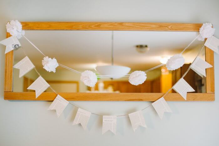 Whimsical Book Page Bunting Banner