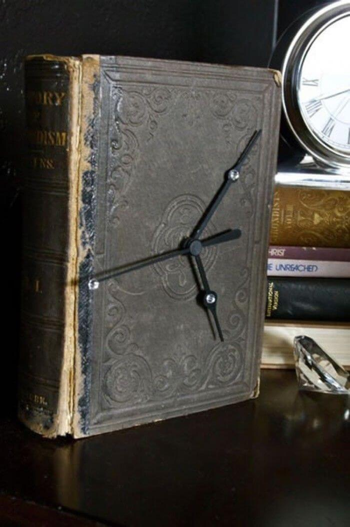 Decorative Functioning Old Book Clock